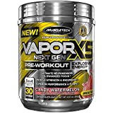 Pre Workout Powder | MuscleTech Vapor X5 | Preworkout Powder for Men & Women w/Creatine Monohydrate & Beta Alanine for Energy, Strength, Performance and Neurosensory | Watermelon Candy (30 Servings)