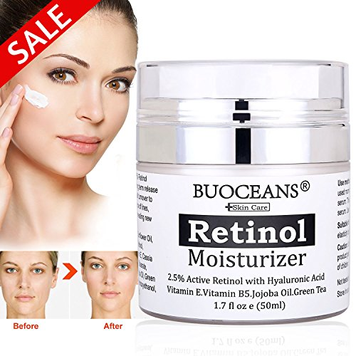 Retinol Moisturizer Cream for Face and Eye Area - With Retinol, Hyaluronic Acid, vitamin E and Green Tea, for Anti Aging, Wrinkles, Fine Lines, Acne, Redness, Best Day and Night Cream.1.7 - Age Diminishing Day Cream