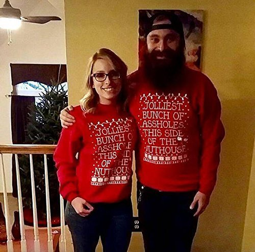 Jolliest Bunch Of Assholes Ugly Sweater Christmas Vacation Import