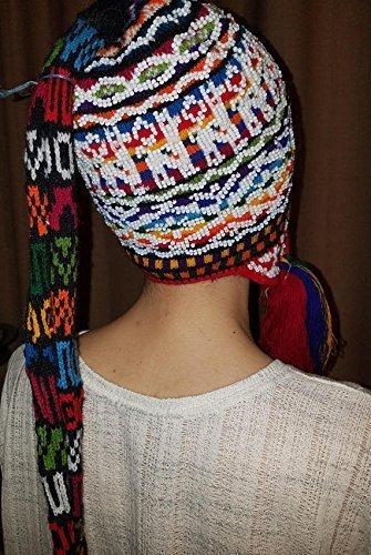 Deluxe Chullo hat Handmade alpaca design by Aspenandes