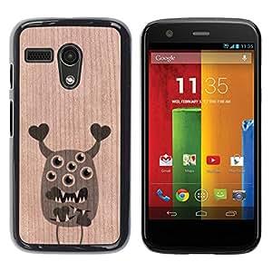 - / Cute Valentines Monster Hearts - - Funda Delgada Cubierta Case Cover de Madera / FOR Motorola Moto G 1ST Gen XT1028 XT1031 / Jordan Colourful Shop/