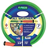 Flexon FAW5875 5/8-Inch x 75-Foot All-Weather 4-Ply Medium Duty Garden Hose