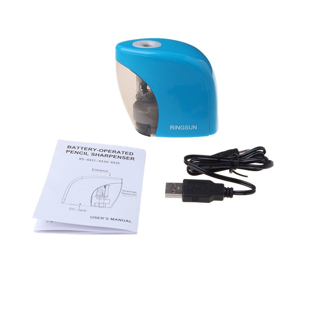 Manyo temperamatite elettrico automatico, Batteria/USB alimentato temperamatite per matite