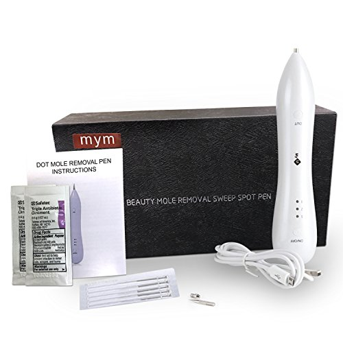 MyM New Portable Dot Mole Removal System +Bonus (Ointment) For Dark Freckle Age Spot Small Tattoo Pigmentation Nevus Skin Tag Removal Pen Profession Use And Home Use