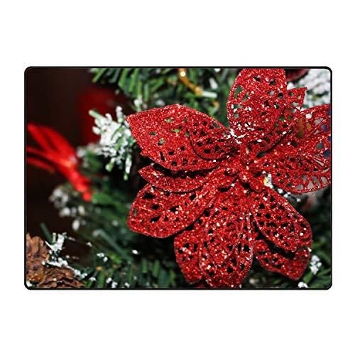 (Ornament Christmas Ornaments Poinsettia Accent Floor Rug)