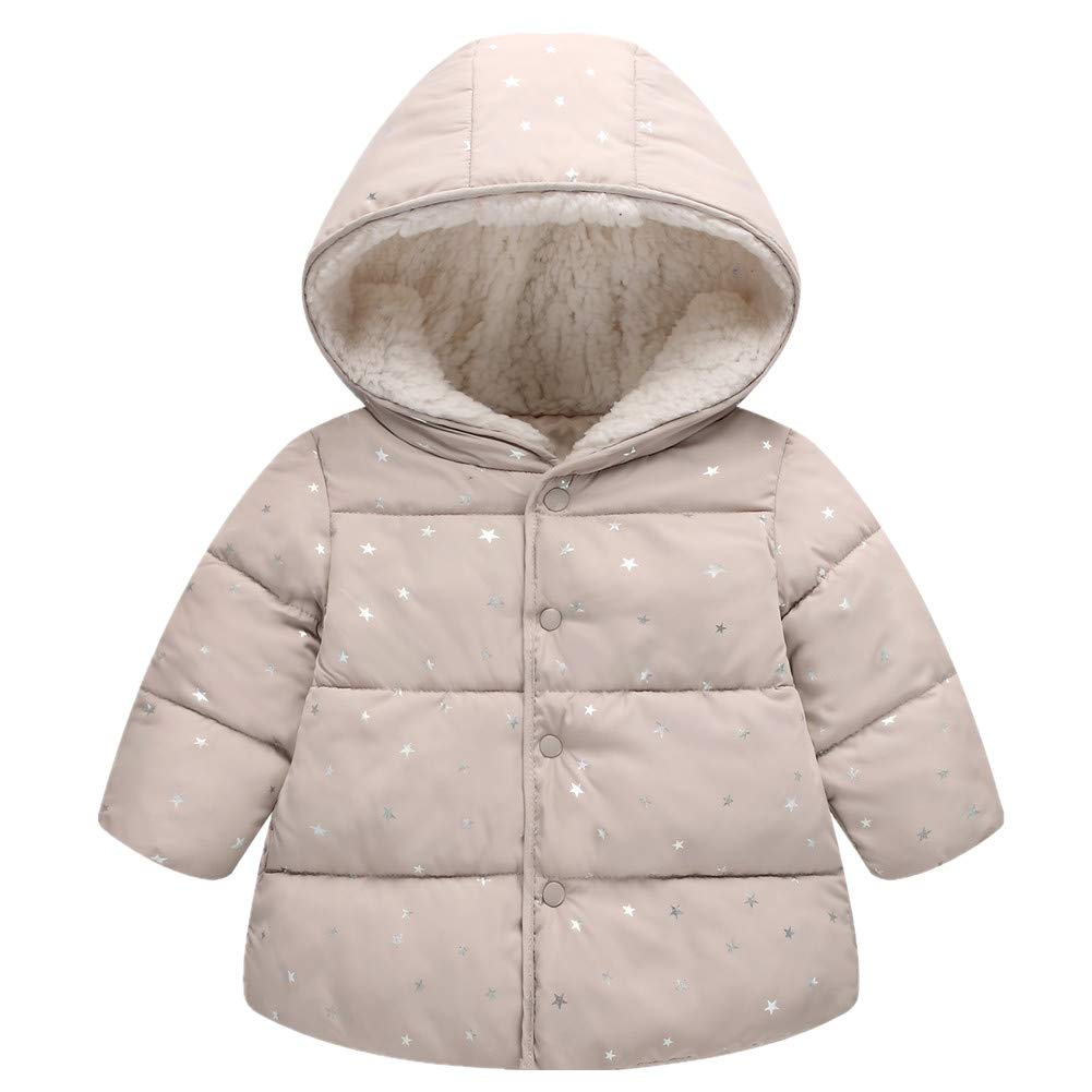 RACHAPE Girls Winter Coat Hooded Snow Jacket Fleece in Junior Snowsuit Big Kids Down Windproof Puffer Warm Outerwear Clothes