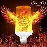 TENLION Led Flame Light Bulbs, 3 Modes Fire Color Torch Light, E26 Led Flickering Light 1400K Decorative Light Atmosphere Lighting Bulb 1 Pack
