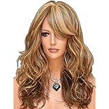 Tsnomore Fashion Long Wavy Women Wig (Blonde Auburn)