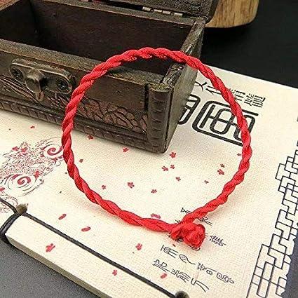 LINSUNG 10 bracelets ROUGE à cordon chanceux kabbale faits