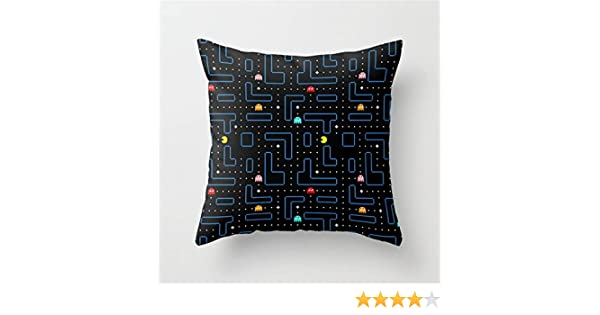 Jay94 Pac-Man Retro Arcade Gaming Design Throw Pillow Case Cushion Cover 18 X 18 inches