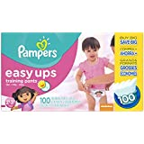 Pampers Pam-2766 Easy Ups Training Pants Diapers for Girls,  2T3T(Size 4), (Pack of 100)