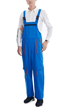 7e4be73511c Nachvorn Men s Women s Blended Workwear Bib Overall Durable Coverall with  Big Pockets