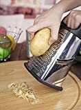 Box Grater with bottom Storage Container,4-Sided Stainless Steel Large 10 inch Grater for Cheese, Ginger, Vegetables