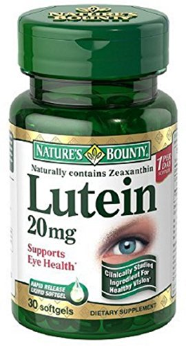Nature's Bounty Lutein 20 mg Softgels 30 ea (Pack of 7) by Nature's Bounty