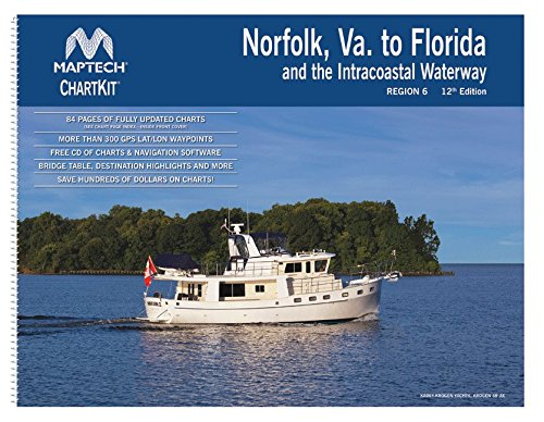 ChartKit Region 6: Norfolk VA to Jacksonville, FL including ICW, 12th Edition by Maptech
