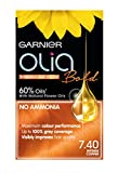 Garnier Olia Permanent Hair Dye, 7.40 Intense Copper