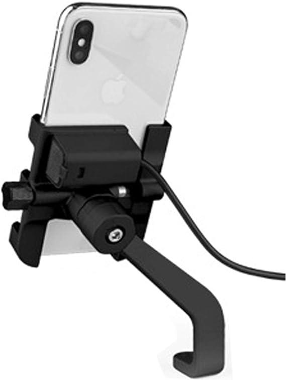 Black 360 Degree Rotation Adjustable DHYSTAR Mobile Cell Phone Bicycle Motorcycle Handlebar Mount Holder Cradle Bracket Stand Support for Most Smartphones Bike Phone Mount