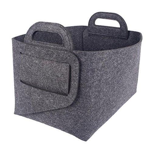 SUNNIOR Felt Storage Box Multi-function Foldable Portable Basket