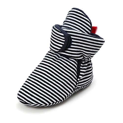 - Baby Girls Boys Cozy Fleece Booties - Winter Warm Socks Soft Sole Crib Shoes