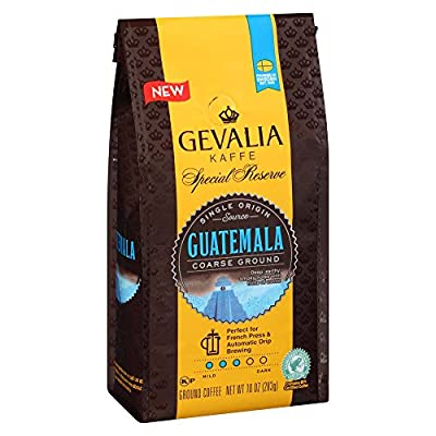 Gevalia Guatemala Special Reserve Collection Single Origin Coffee, Medium Roast, Coarsely Ground, 10 Ounce Bag