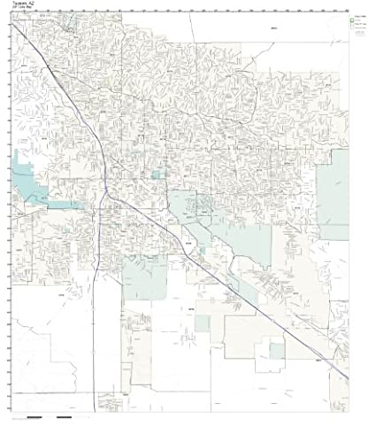 Amazon Com Zip Code Wall Map Of Tucson Az Zip Code Map Not