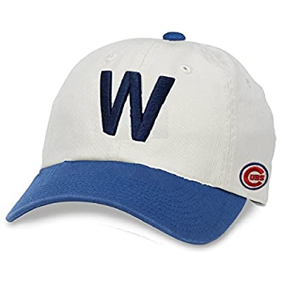 American Needle Chicago Cubs Southpaw Two-tone Slouch Adjustable Hat White/Blue from American Needle