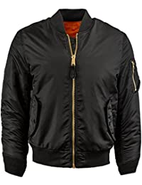 """<span class=""""a-offscreen"""">[Sponsored]</span>IV Mens MA-1 Reversible Bomber Flight Jacket Active Casual Military 1IVA0001"""