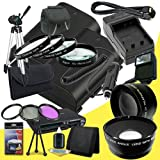 Two Canon EOS 70D DSLR Camera with 18-55mm STM f/3.5-5.6 Lens LP-E6 Lithium Ion Replacement Battery and External Rapid Charger + 58mm 3 Piece Filter Kit + Full Size Tripod + 58mm Macro Close Up Kit + 58mm 2x Telephoto Lens + 58mm Wide Angle Lens + Carryin