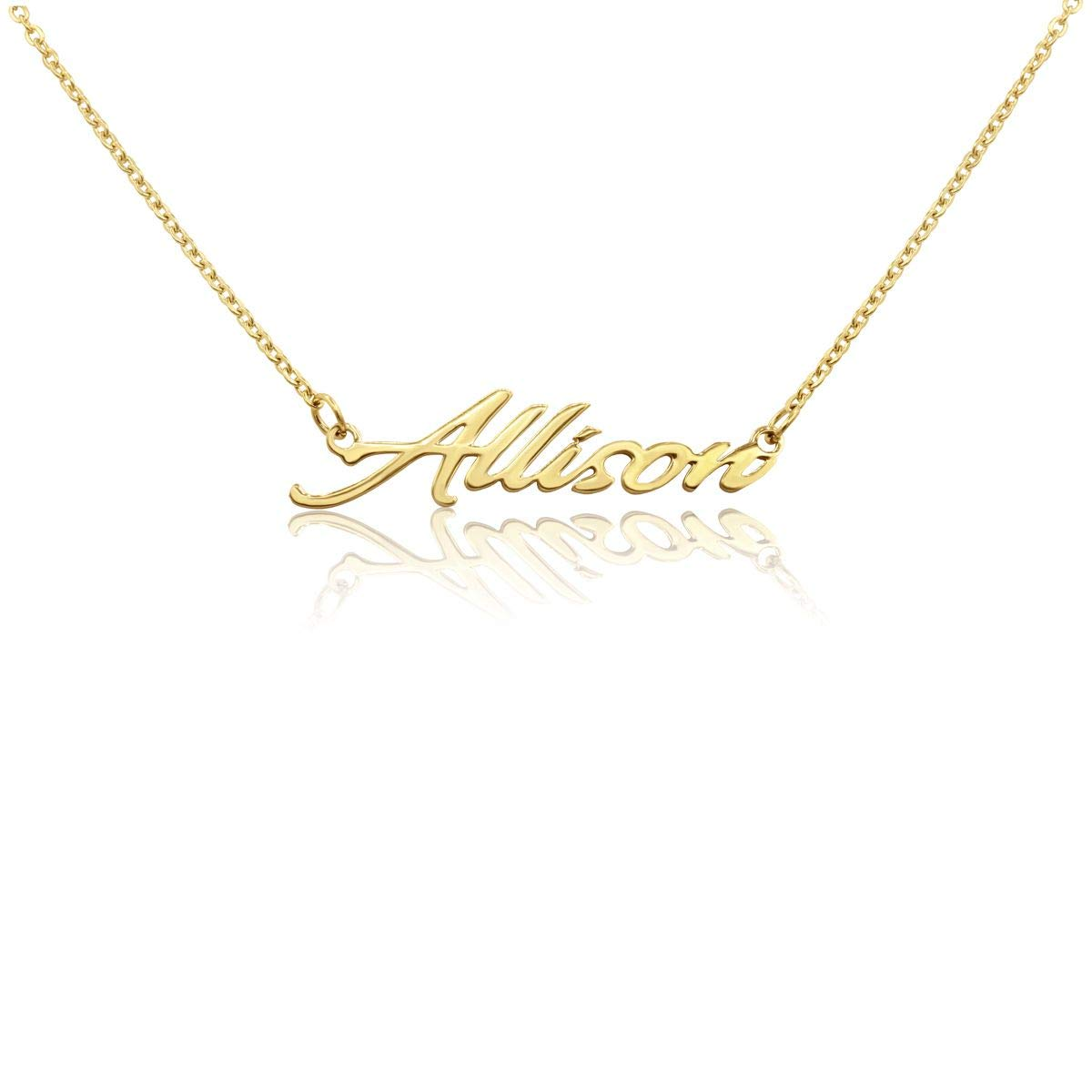 Beam Reach Personalized Name Necklace Pendant in Gold Tone 100 Names Available for Immediate Purchase!