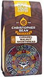 Christopher Bean Coffee Flavored  whole bean Caramel Walnut Shortbread, 12 Ounce