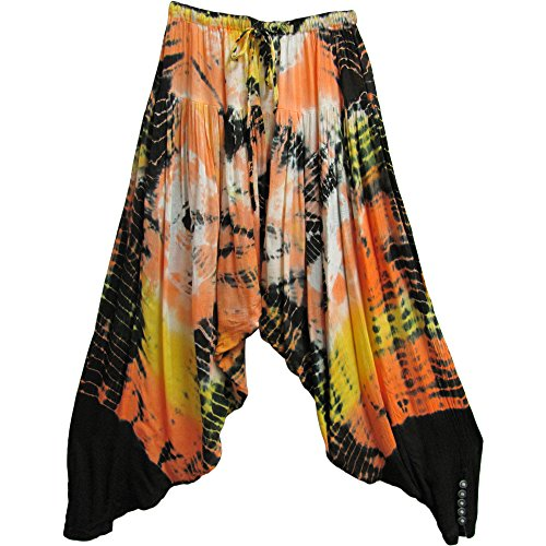 Hippie Gauze (Indian Bohemian Gypsy Hippie Meditation Yoga Gauze Tie-Dye Harem Pants No3)