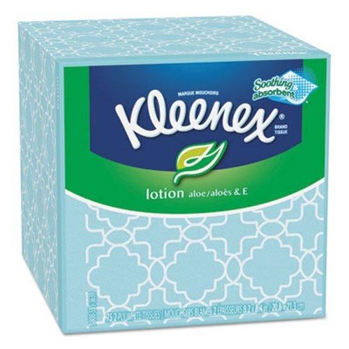 Kimberly-Clark 25829 KLEENEX Lotion Facial Tissue, 3-Ply, 75