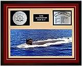 Navy Emporium USS GUARDFISH SSN 612 Framed Navy Ship Display Burgundy