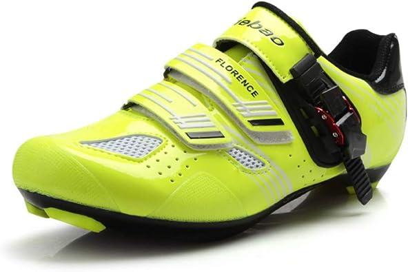 Tiebao - Zapatillas de Ciclismo de Sintético para Mujer, Color Verde ...