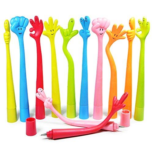 Littfun Interesting Ballpoint Pens Children Birthday Party Gift Novelty Gift Pens (Palm Shape Pens)