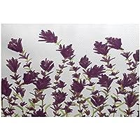 E by design RFN433PP2-35 Lavender Floral Print Indoor/Outdoor Rug, 3 x 5, Purple