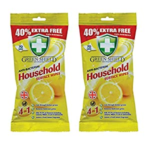 Greenshield Anti Bacterial Household Wipes – Pack Of 2