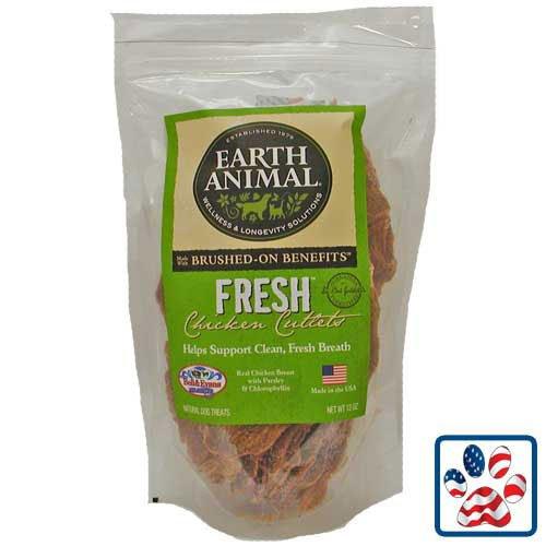 Earth Animal Chicken Cutlets Fresh-good Breath 10 Oz