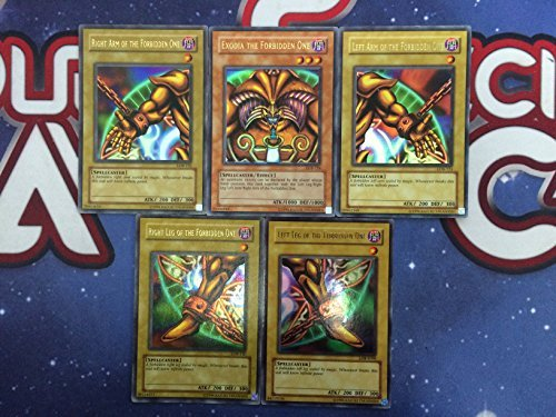 Yugioh Exodia The Forbidden One Set LOB Ultra Rare Unlimited Edition Near Mint Fast Shipping! by Yu-Gi-Oh!