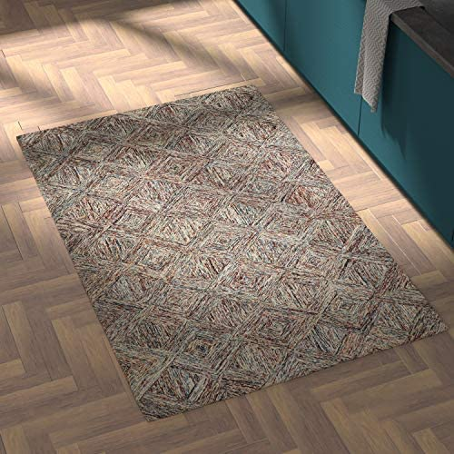 Amazon Brand Rivet Motion Modern Patterned Wool Area Rug