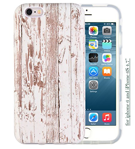 iPhone 6S Case, Dimaka Design Pattern Prime Retro Wooden Grain Inked Hybrid 2 in 1 Protective Candy Shell with Safe Rubber and Pime Girly Perfection Hardcover for iPhone 6 and 6S 4.7'(Wood texture)