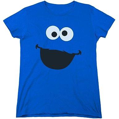a506baf0 Amazon.com: Sesame Street Character Face Women's T Shirt & Stickers ...
