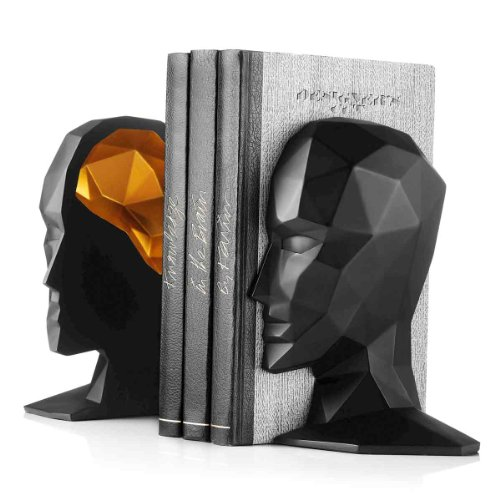 Knowledge in the Brain Bookends, Black/Gold by Menu