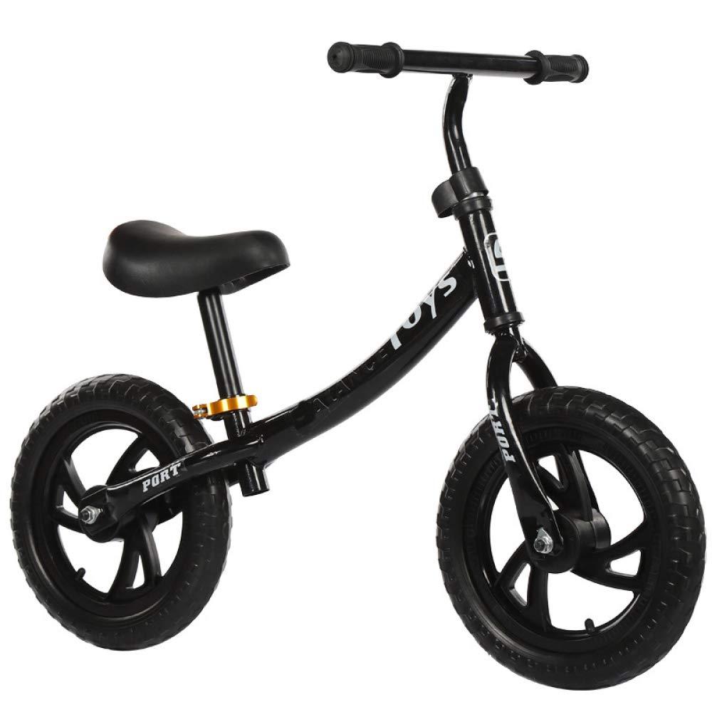 tienda hace compras y ventas negro Balance Bike Bicicleta Sin Pedales,Coche De Equilibrio para Niños Niños Niños Bicicleta De Entrenamiento De Peso Ligero para Niños Y Niños Pequeños De 2 A 4 Años Primer Coche,negro  preferente