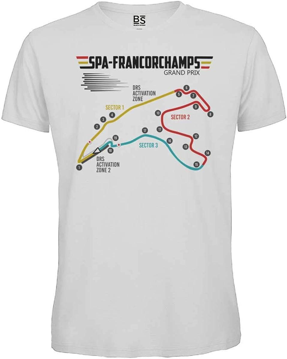 GP Belgio Motorsport Maglietta Pista Formula 1 T-Shirt Circuito Spa Francorchamps