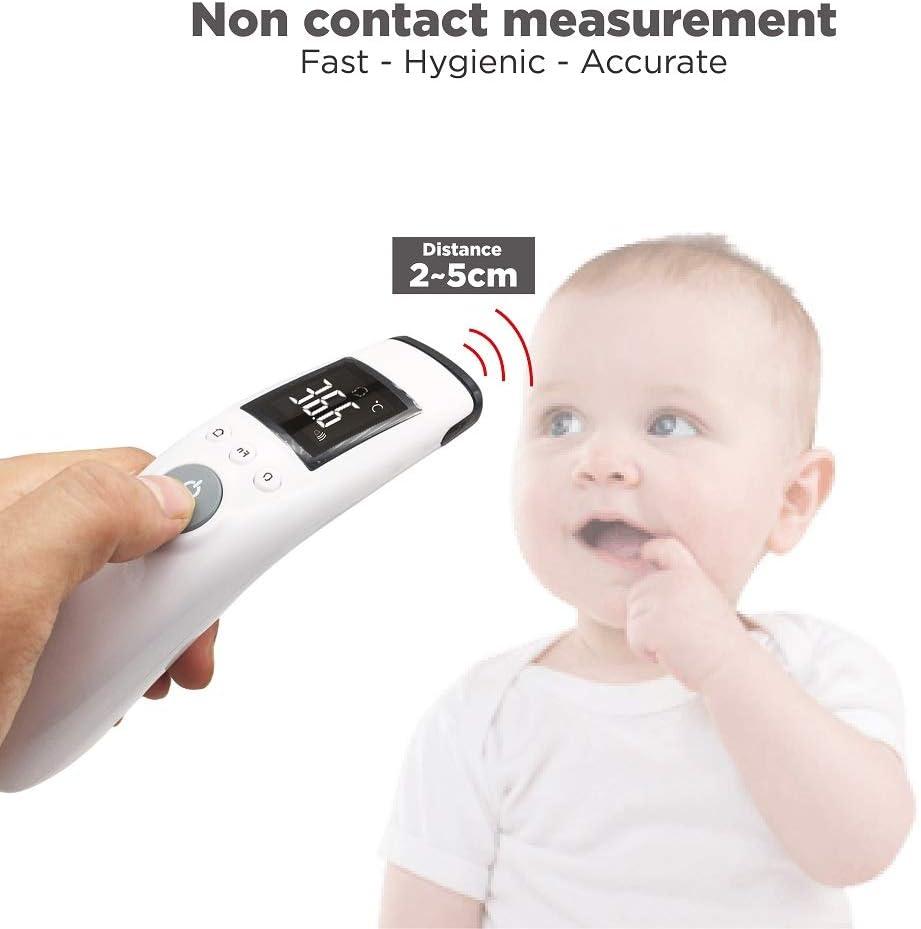 Thermom/ètre frontal infrarouge num/érique sans contact pour b/éb/é enfant et adulte