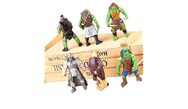 Teenage Mutant Ninja Turtles Figure Toy Set Of 6 Tmnt