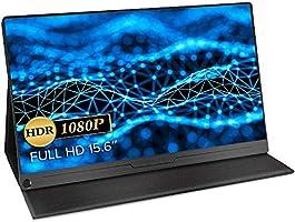 モバイルモニター EVICIV 最新版 モバイルディスプレイ 15.6インチ ゲームモニター IPS液晶パネル 薄型 軽量 USB Type-C/標準HD/mini DP スタンドカバー PS4/XBOX/Switch/PC/Macなど対応...