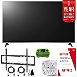 LG 55UK7700PUD 55' Class 4K HDR Smart LED AI UHD TV w/ThinQ (2018 Model) + Free $40 Netflix Gift Card + 1 Year Extended Warranty + Flat Wall Mount Kit Ultimate Bundle + More