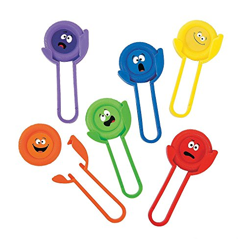 Kicko Silly Face Disc Shooters - Pack of 12 - Assorted Colors, 1 3/4 Inch Shooter, 2 X 4 Inch Disc Plastic Funny Face Party Disc Shooter - for Kids Great Party Favors, Bag Stuffers, Toy, Fun, Gift -